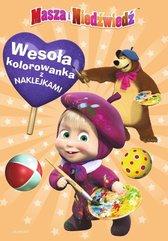 Masza i Niedźwiedź Wesoła kolorowanka z naklejkami