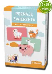 Poznaję Zwierzęta Zu & Berry dla dzieci 6-18 mies. (gra karciana)
