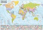 Świat Mapa polityczna i krajobrazowa 1:44 000 000