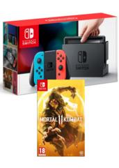 Konsola Nintendo Switch Red & Blue + Mortal Kombat XI