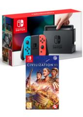 Konsola Nintendo Switch Red &Blue + Sid Meier's Civilization VI