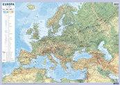 Europa mapa fizyczno-polityczna ścienna