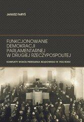 Funkcjonowanie demokracji parlamentarnej w Drugiej Rzeczypospolitej