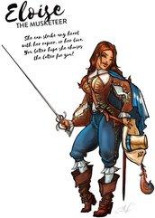 Hot & Dangerous: Eloise, the Musketeer (28 mm)