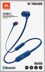 Słuchawki bezprzewodowe douszne JBL T110BT niebieskie