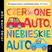 Książka rozkładanka Kolory: Czerwone auto niebieskie auto