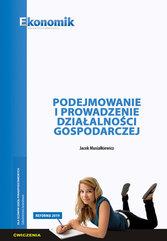 Podejmowanie i prowadzenie działalności gospodarczej - ćwiczenia