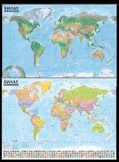 Świat Mapa polityczna i krajobrazowa 1:21 500 000 listwa