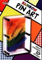 Rainbow Pin Art. Szpilkowy obraz 3D