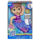 Hasbro - Baby Alive Lalka Migocząca syrenka Brunetka