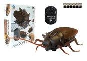 Karaluch insekt zdalnie sterowany brązowy