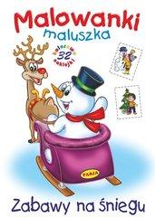 Malowanki maluszka Zabawy na śniegu