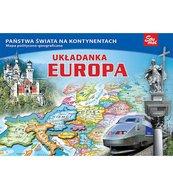 Europa - puzzle edukacyjne 58 elementów