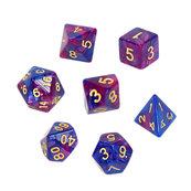Komplet kości REBEL RPG - Dwukolorowe - Ciemnoniebiesko-purpurowe