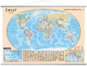 Świat Mapa ścienna Podział polityczny 1:30 000 000