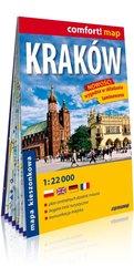 Kraków kieszonkowy laminowany plan miasta 1 : 22 000