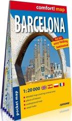 Barcelona (Barcelona); kieszonkowy laminowany plan miasta 1:20 000