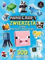 Minecraft Zwierzęta Album przygód z naklejkami