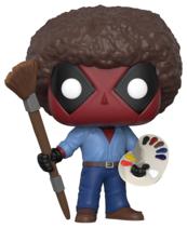 Funko POP Marvel Bobble: Deadpool Playtime: Deadpool Bob Ross