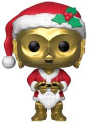 Funko POP Bobble: Star Wars: Holiday Santa C-3PO