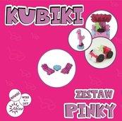 Kubiki Zestaw Pinky