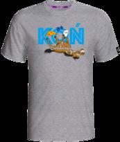 """""""Koń Zwalony"""" T-shirt Szary L"""