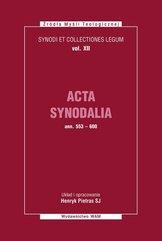 Acta Synodalia od 553 do 600 roku