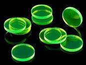 Crafters: Znaczniki akrylowe - Transparentne - Fluo - Zielone (10)