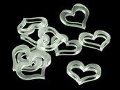 Crafters: Znaczniki akrylowe - Satynowe - Kształt - Serce (10)