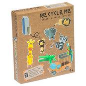 Re-Cycle-Me Zestaw Kreatywny Dżungla 8 zabawek