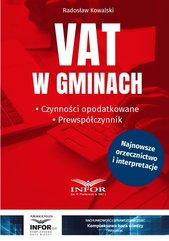 VAT w gminach.Czynności opodatkowane.Prewspółczynnik