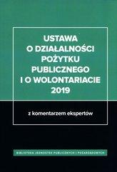 Ustawa o działalności pożytku publicznego i o wolontariacie 2019