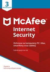 Program Antywirusowy McAfee Internet Security (3 urządzenia)