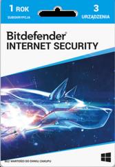 Program Antywirusowy Bitdefender Internet Security 2021 (3 stanowiska)