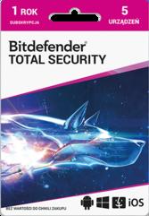 Program Antywirusowy Bitdefender Total Security 2021 (5 użytkowników)
