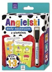 Język angielski klasy 1-3 Karty edukacyjne z pisakiem