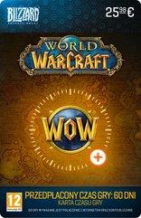 Karta przedpłacona na 60 dni gry w World of Warcraft