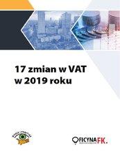 17 zmian w VAT w 2019 roku
