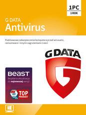 Program Antywirusowy G DATA Antivirus 12 miesięcy (1 użytkownik)