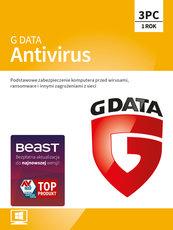 Program Antywirusowy G DATA Antivirus 12 miesięcy (3 użytkowników)