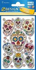 Naklejki wypukłe - Meksykańskie czaszki