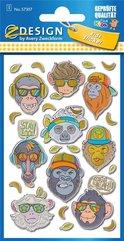 Naklejki wypukłe - Małpki