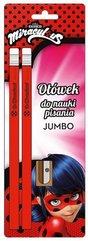 Ołówek Jumbo do nauki pisania + temperówka 2szt