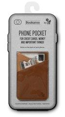 Bookaroo Phone pocket - portfel na telefon brąz