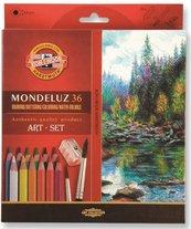Kredki Mondeluz 36 kolorów + pędzel