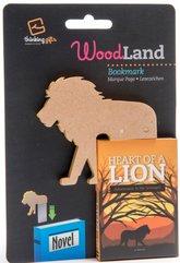WoodLand Lion drewniana zakładka do książki - lew