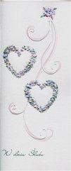 Karnet Ślub DL S37 - Dwa serca