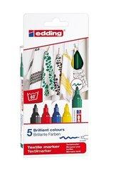 Markery do tkanin 5 kolorów EDDING