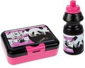 Bidon 350ml + pudełko śniadaniowe Panda