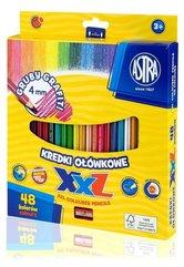 Kredki ołówkowe hexagonalne 48 kolorów ASTRA